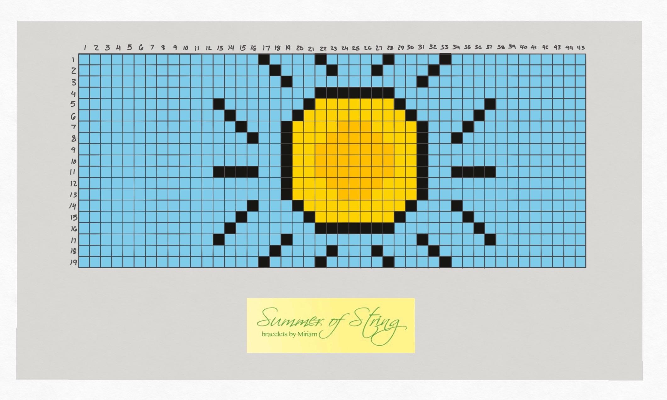 A Little Bit Of Sunshine Friendship Bracelet Pattern From Summer Of String Sartorial Geek